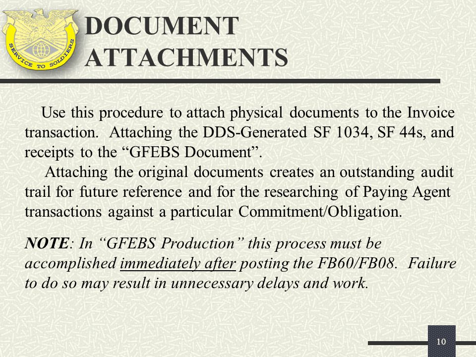 DOCUMENT ATTACHMENTS