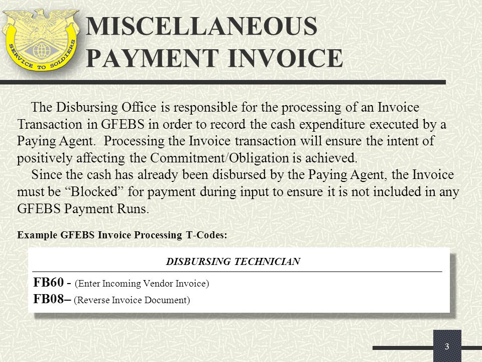 MISCELLANEOUS PAYMENT INVOICE