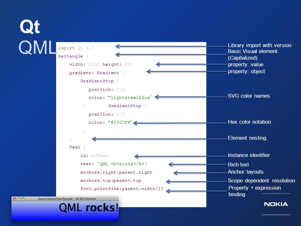 Qt QML Library import with version Basic Visual element (Capitalized)