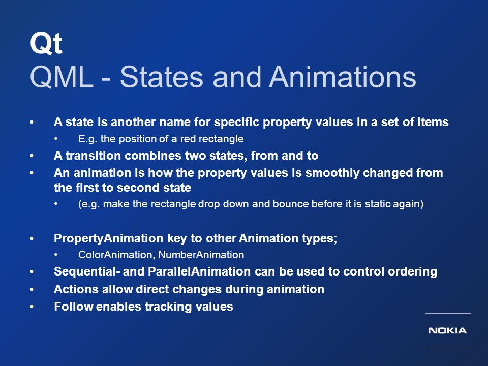 QML - States and Animations