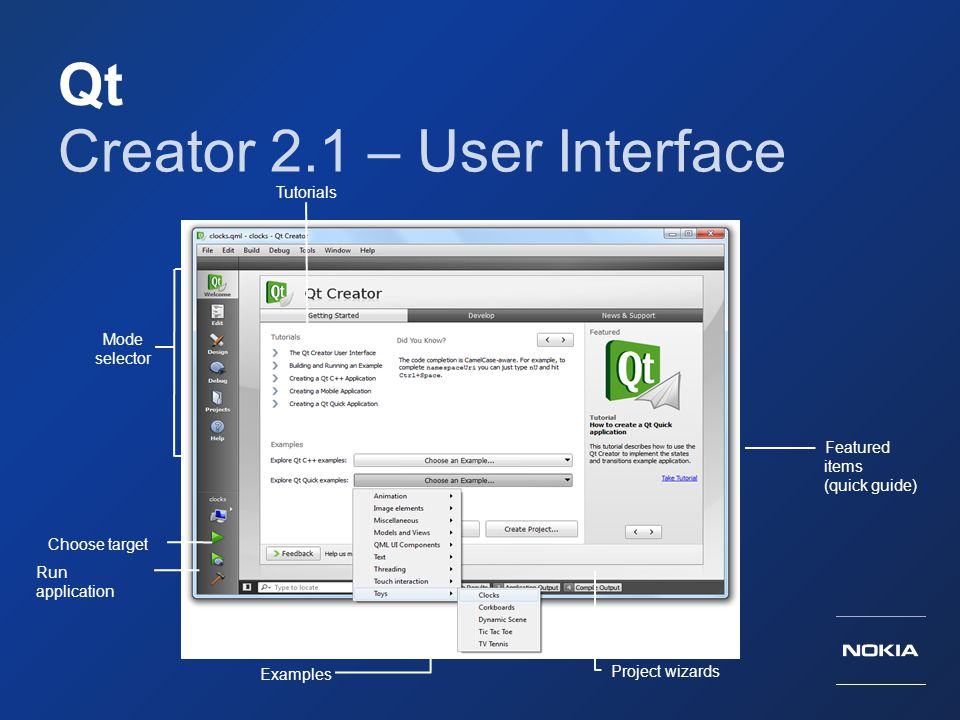 Creator 2.1 – User Interface