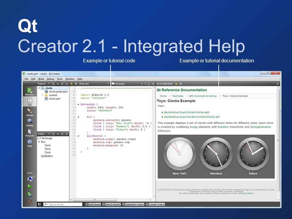 Creator 2.1 - Integrated Help