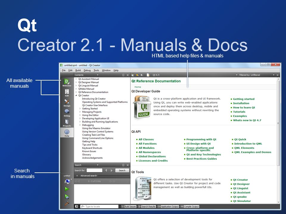 Creator 2.1 - Manuals & Docs