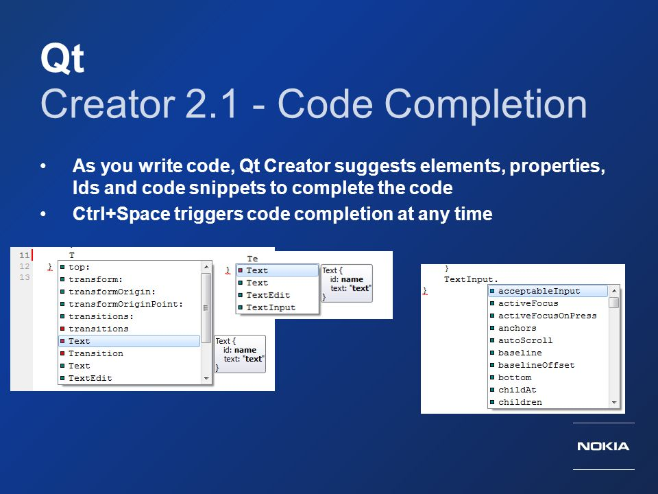 Creator 2.1 - Code Completion