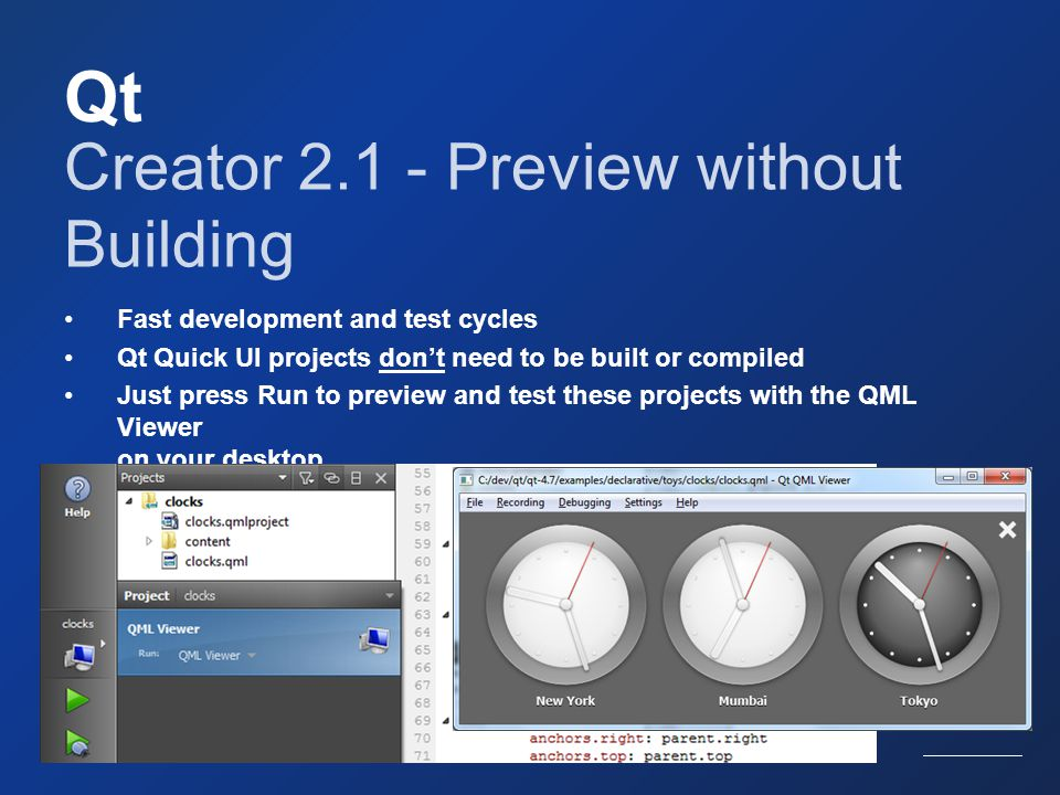 Qt Creator 2.1 - Preview without Building