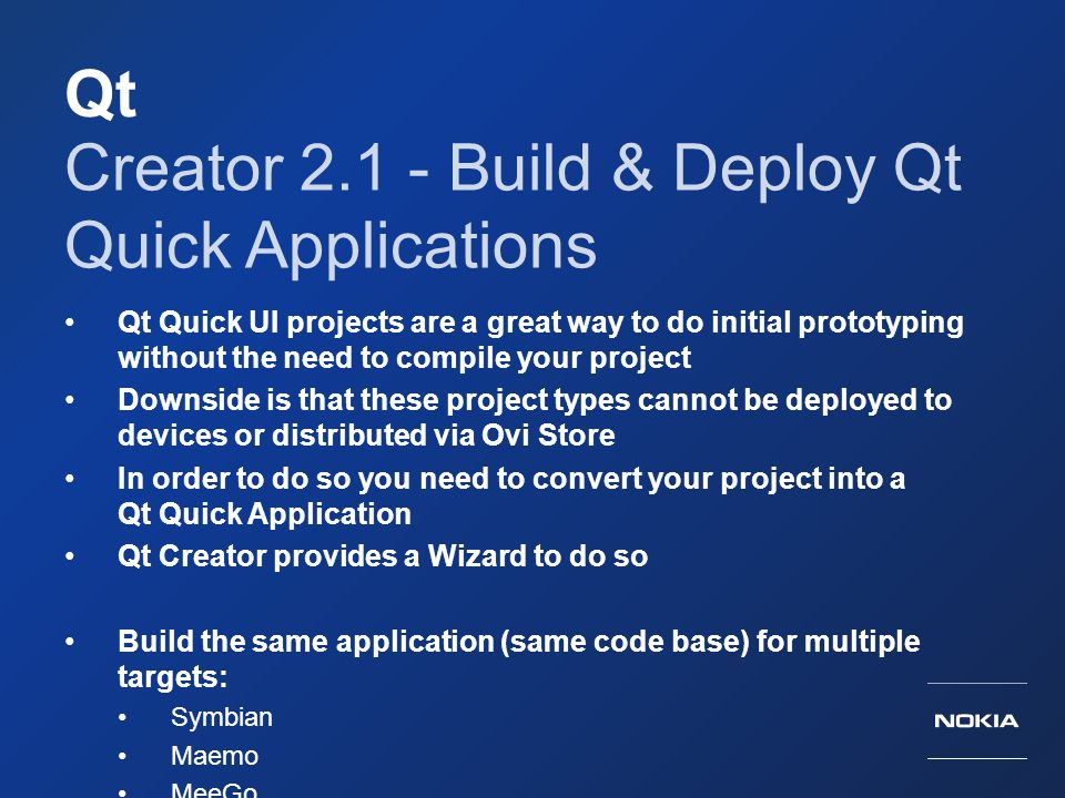 Creator 2.1 - Build & Deploy Qt Quick Applications