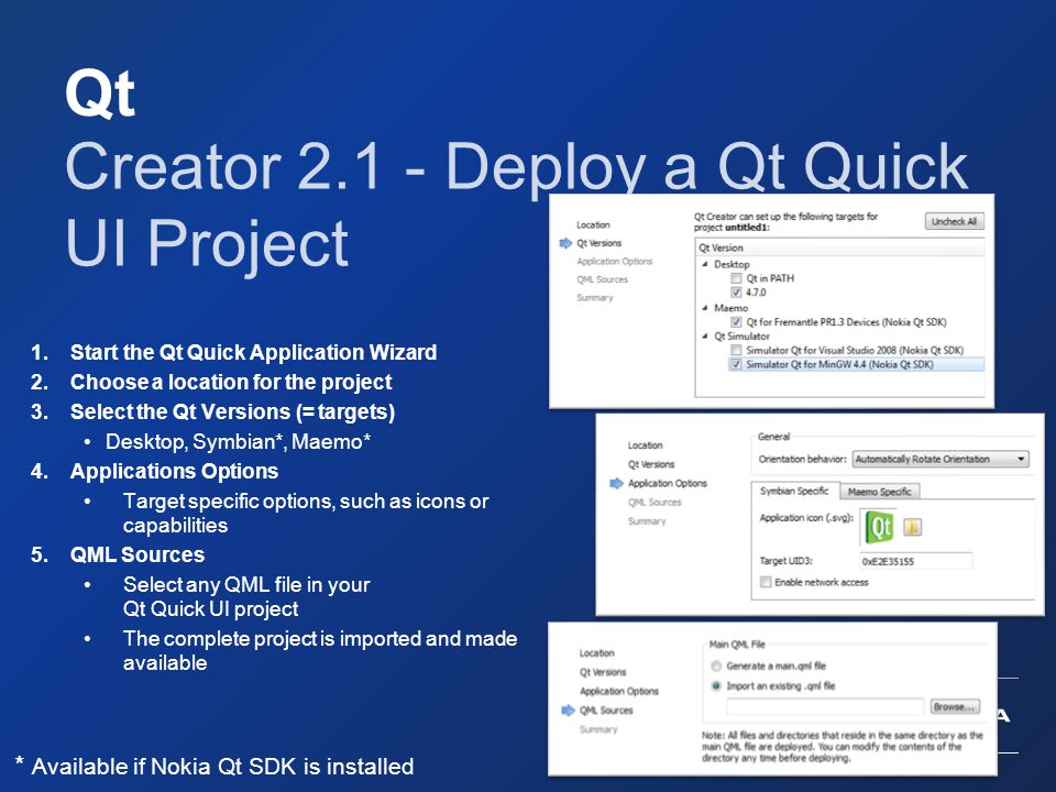 Creator 2.1 - Deploy a Qt Quick UI Project