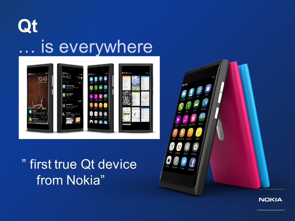 Qt … is everywhere first true Qt device from Nokia