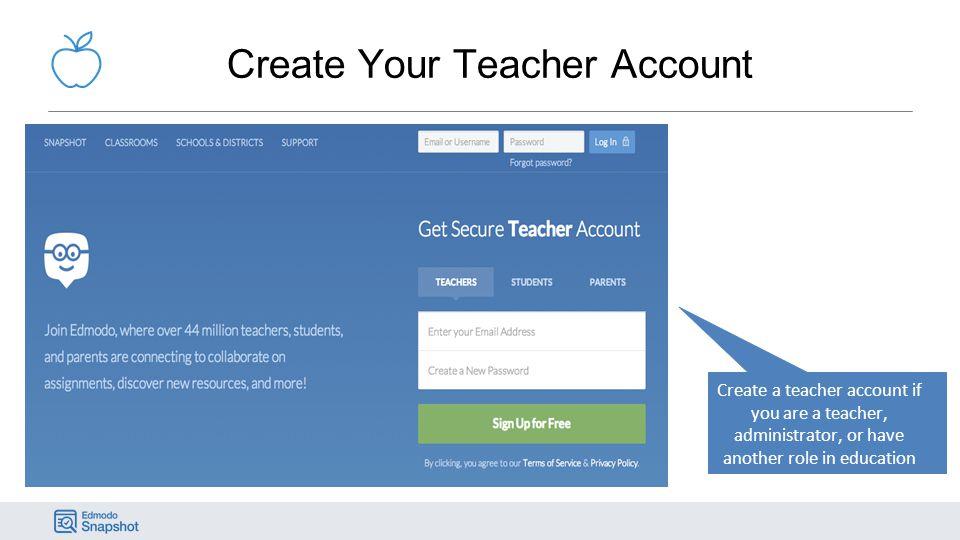 Create Your Teacher Account
