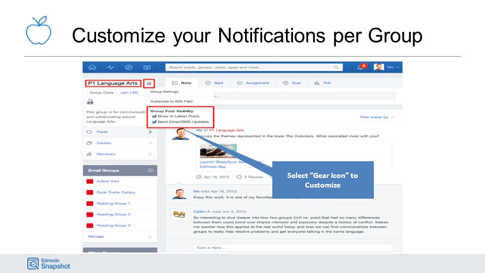 Customize your Notifications per Group