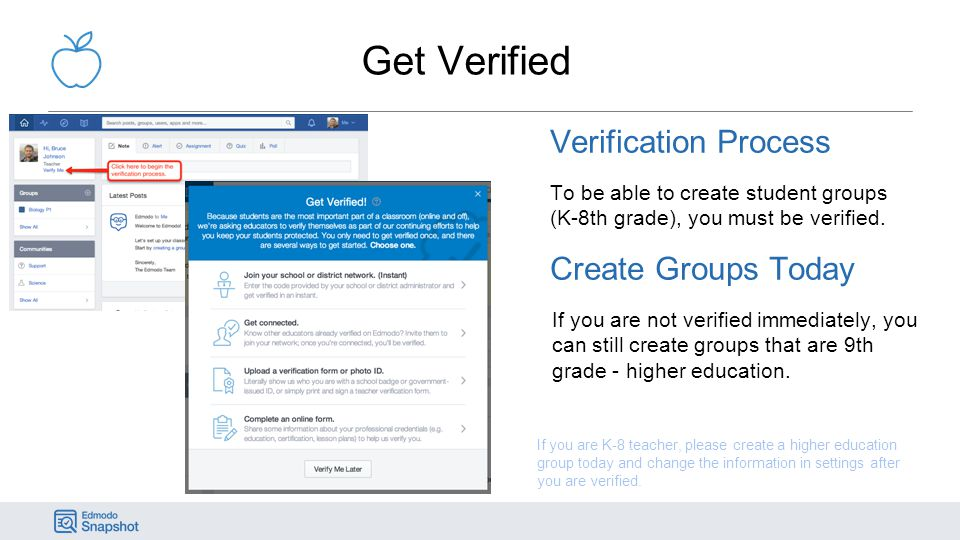 Get Verified Verification Process Create Groups Today