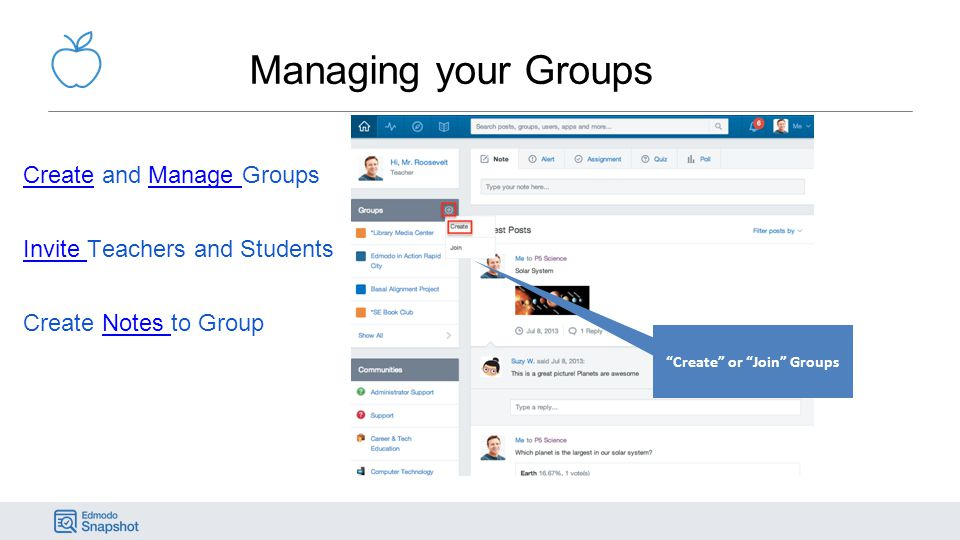 Create or Join Groups