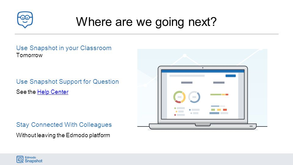 Where are we going next Use Snapshot in your Classroom