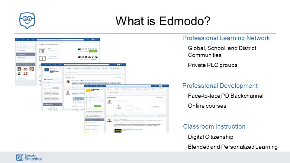 What is Edmodo Professional Learning Network Professional Development