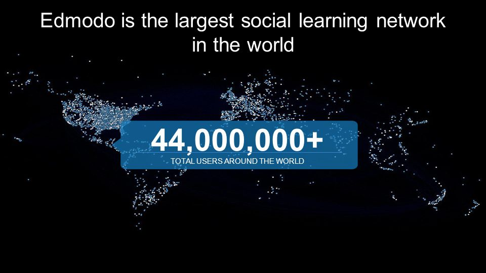 Edmodo is the largest social learning network in the world