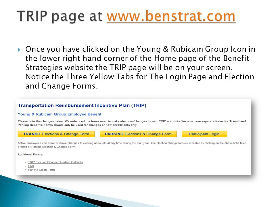 TRIP page at www.benstrat.com