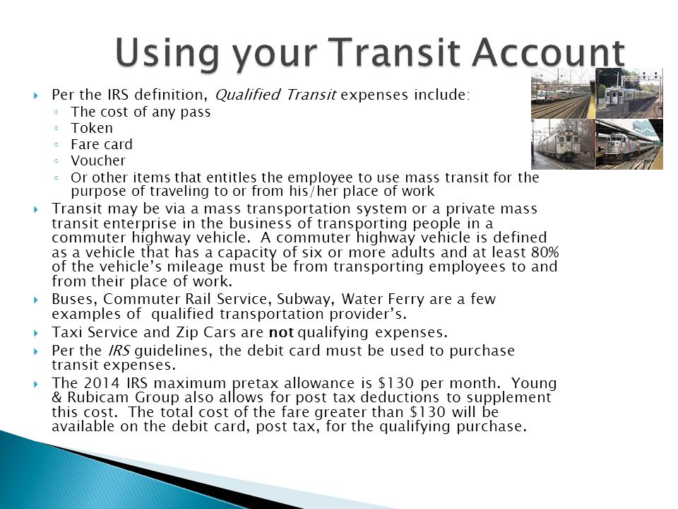 Using your Transit Account