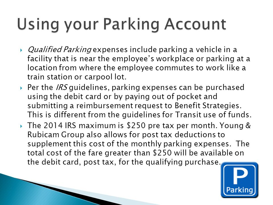 Using your Parking Account