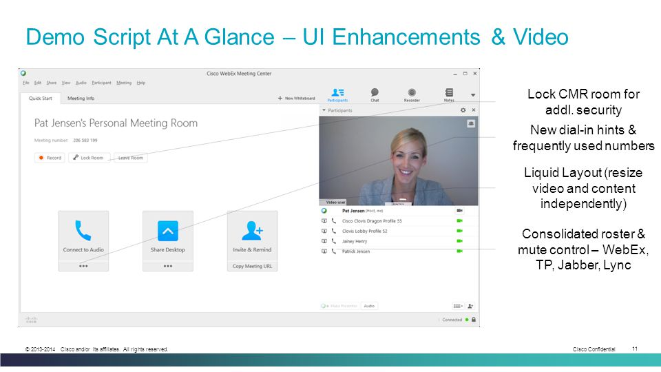 Demo Script At A Glance – UI Enhancements & Video