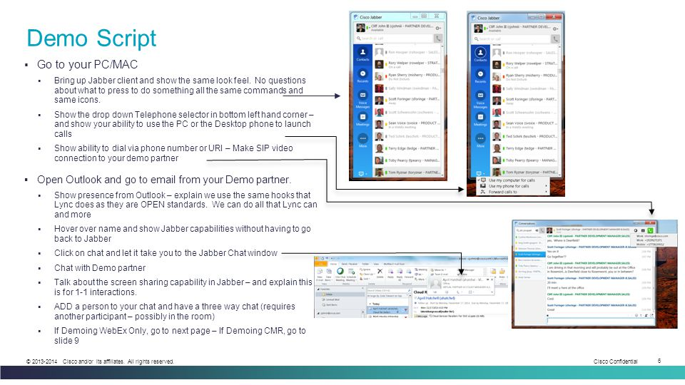 Demo Script Go to your PC/MAC