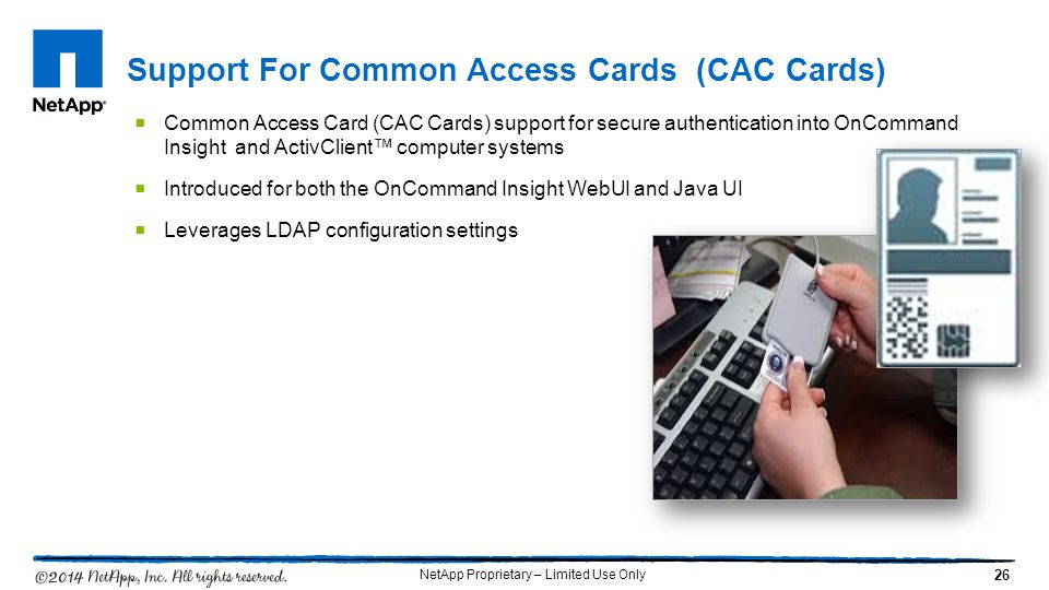 Support For Common Access Cards (CAC Cards)