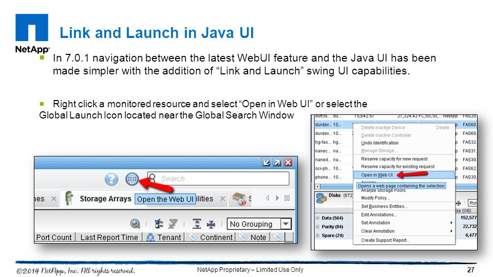 Link and Launch in Java UI