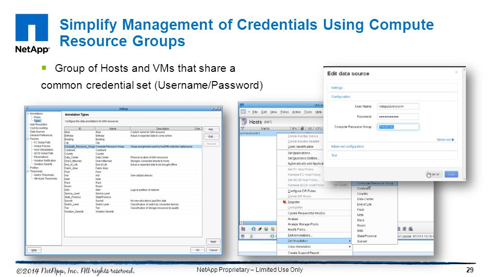 Simplify Management of Credentials Using Compute Resource Groups