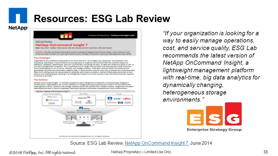 Resources: ESG Lab Review