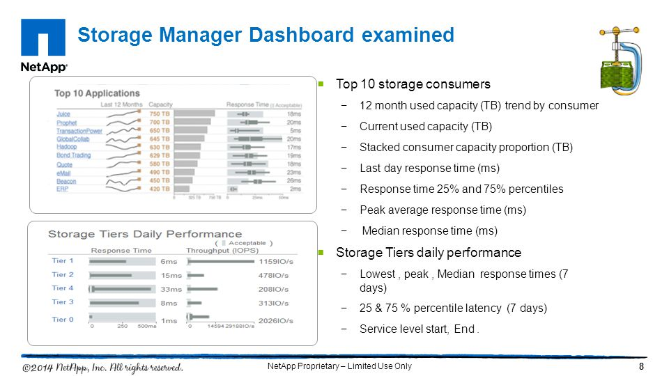 Storage Manager Dashboard examined