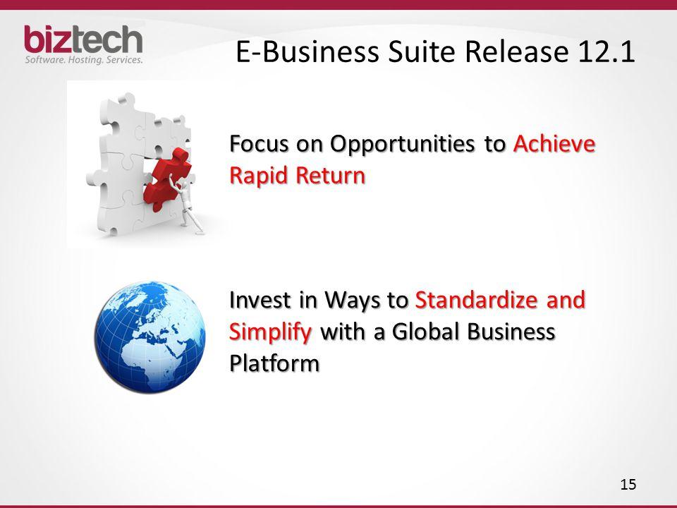 E-Business Suite Release 12.1
