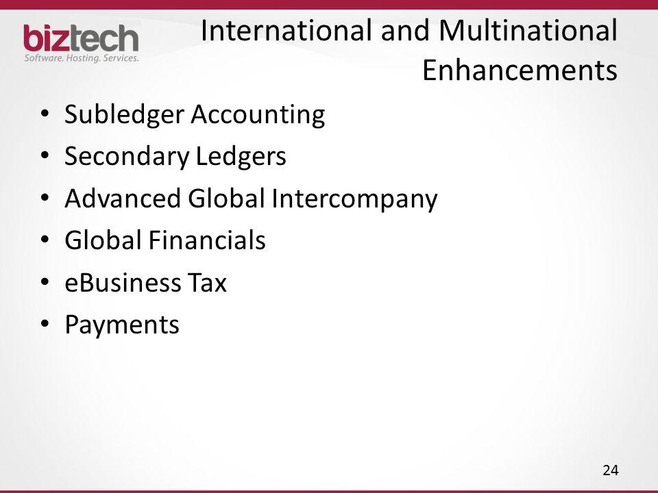 International and Multinational Enhancements