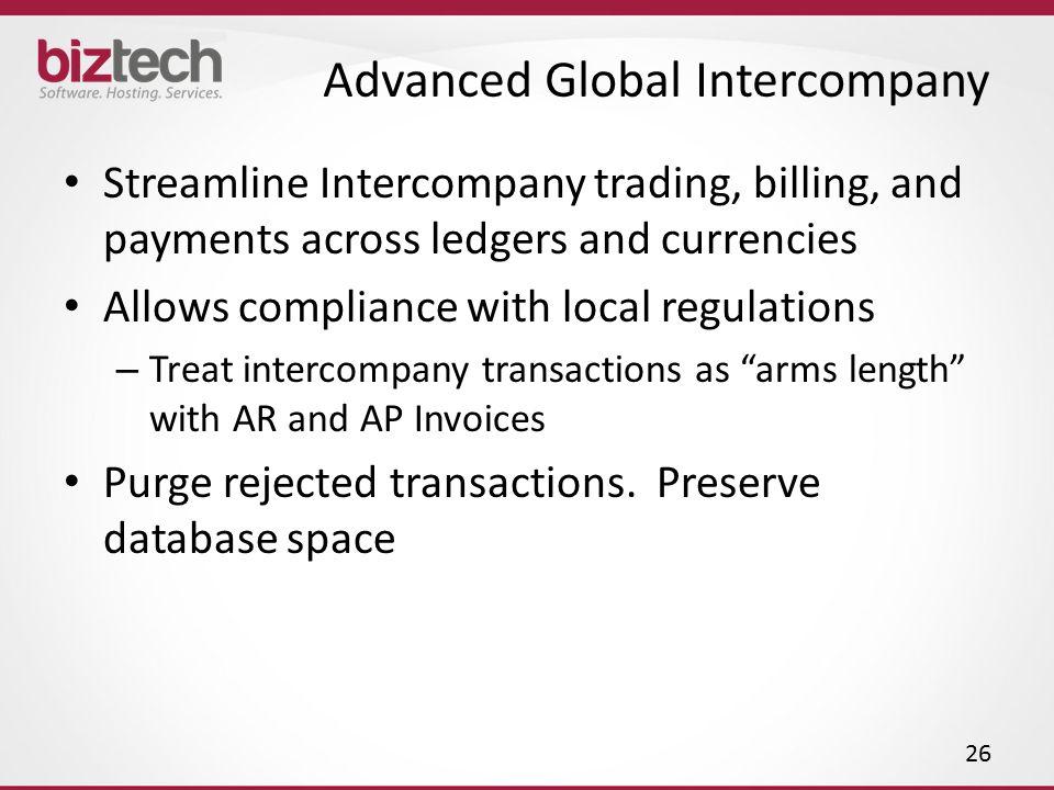 Advanced Global Intercompany