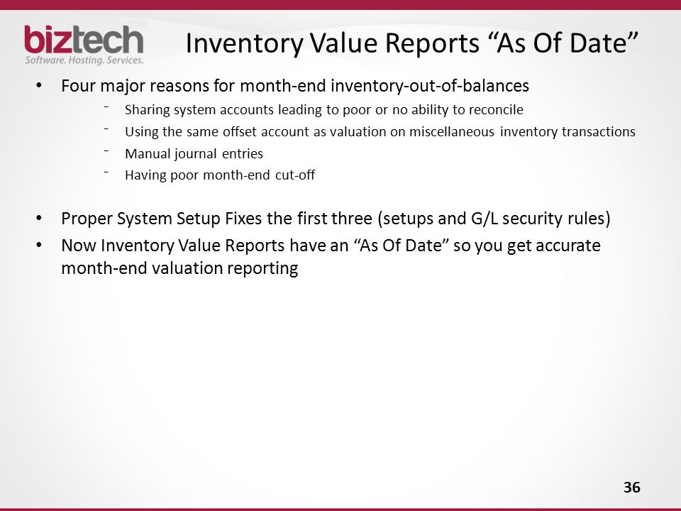 Inventory Value Reports As Of Date