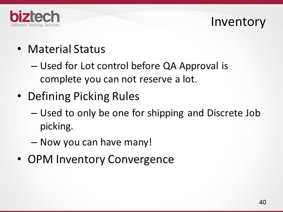 Inventory Material Status Defining Picking Rules