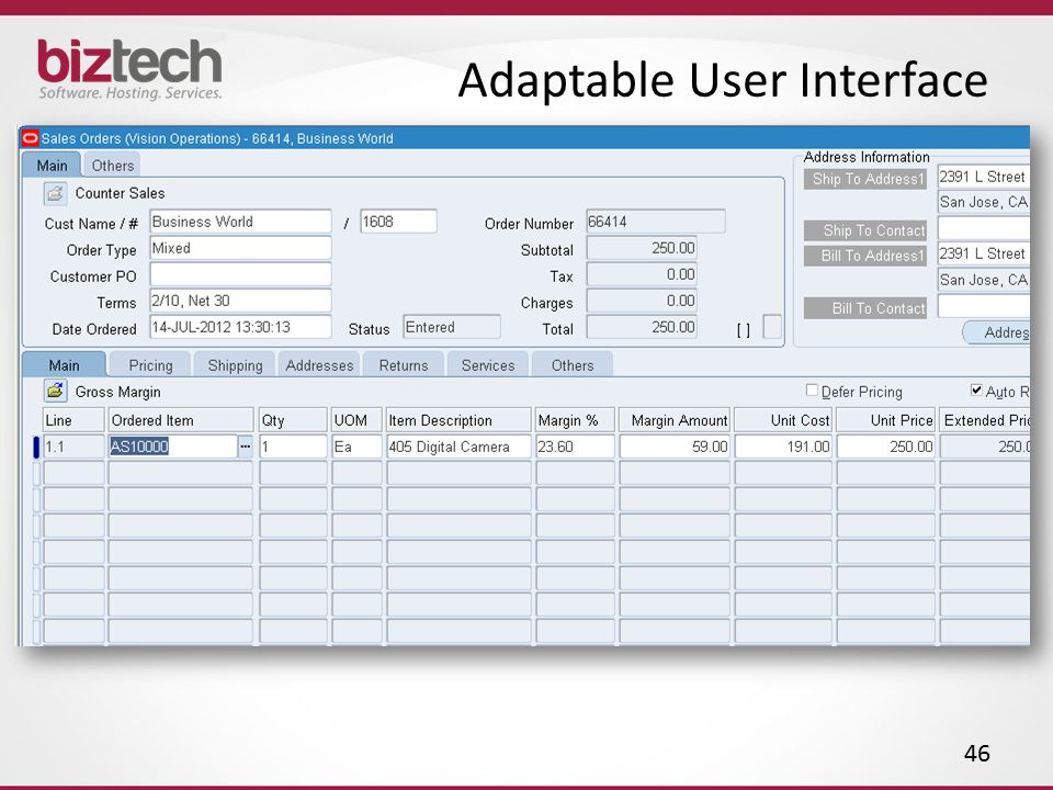 Adaptable User Interface