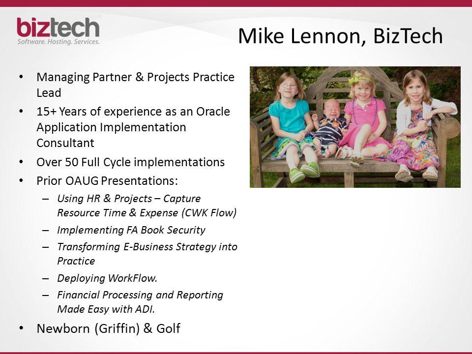 Mike Lennon, BizTech Newborn (Griffin) & Golf