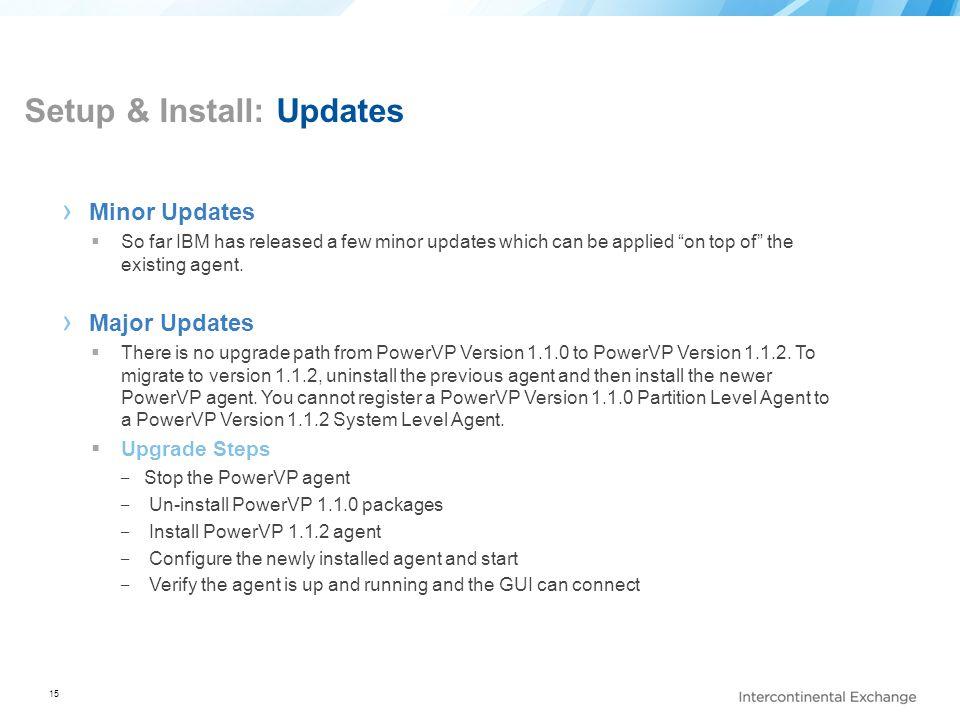 Setup & Install: Updates