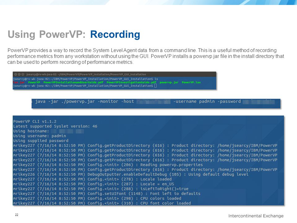 Using PowerVP: Recording