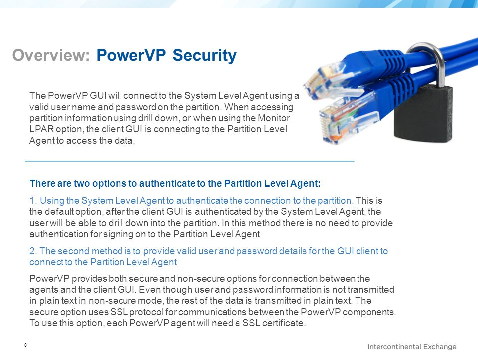 Overview: PowerVP Security