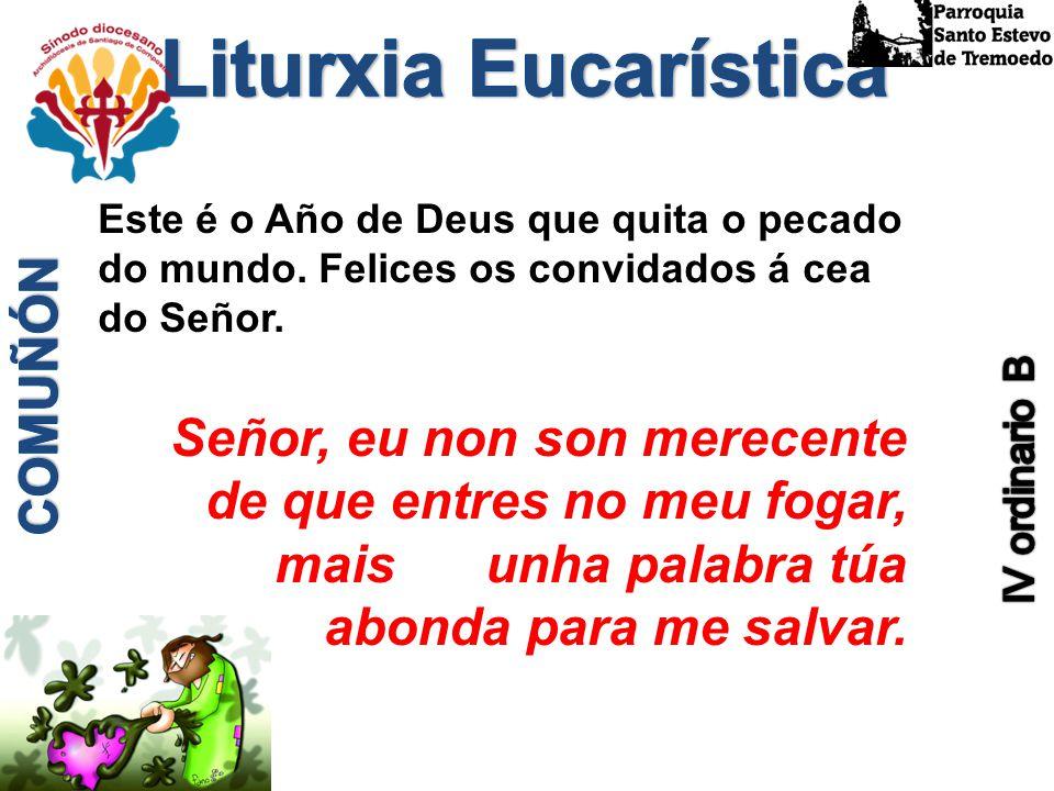 Liturxia Eucarística Este é o Año de Deus que quita o pecado do mundo. Felices os convidados á cea do Señor.