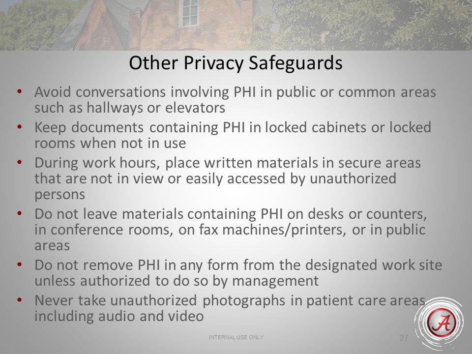 Other Privacy Safeguards