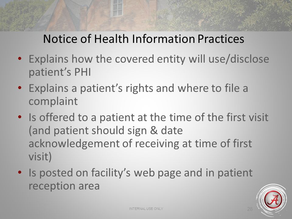Notice of Health Information Practices