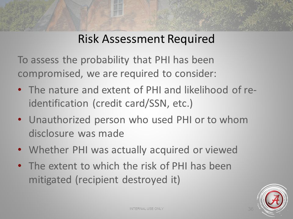 Risk Assessment Required