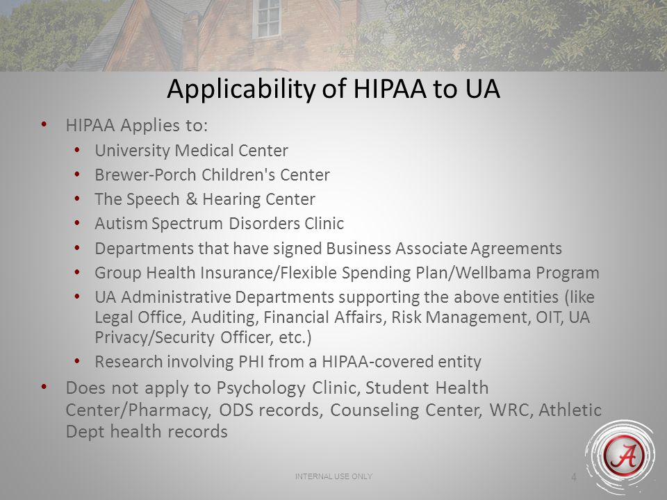 For Ua Health Care Components Business Associates  Health Plans