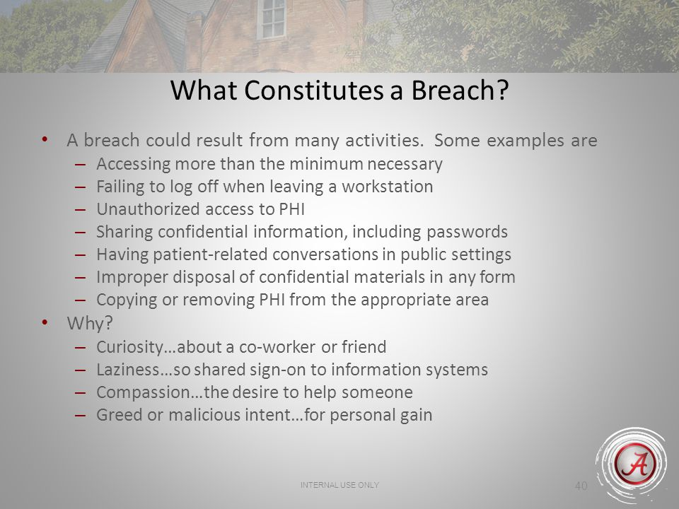 What Constitutes a Breach