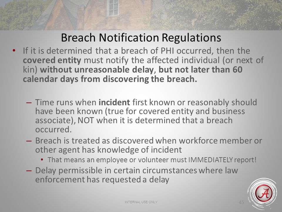 Breach Notification Regulations