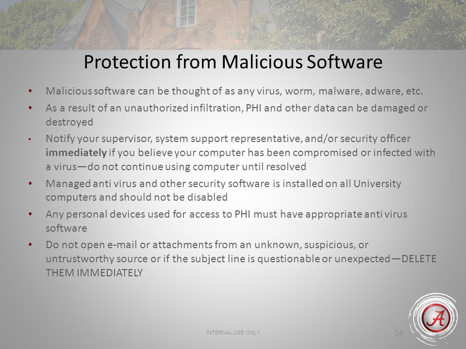 Protection from Malicious Software
