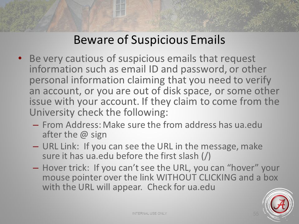 Beware of Suspicious Emails