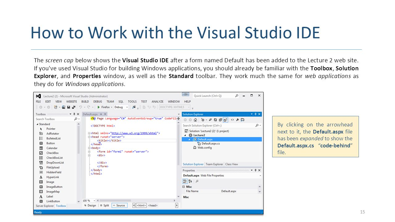 How to Work with the Visual Studio IDE