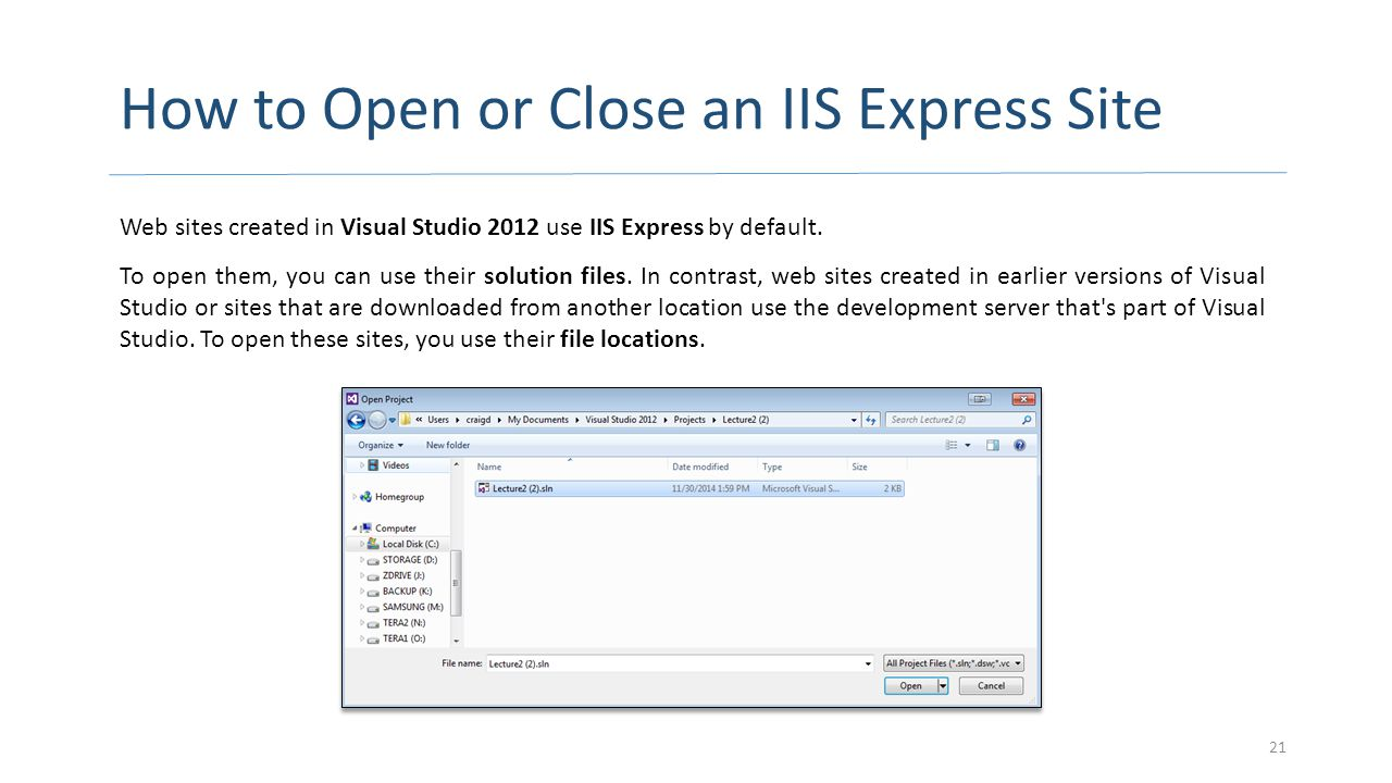 How to Open or Close an IIS Express Site